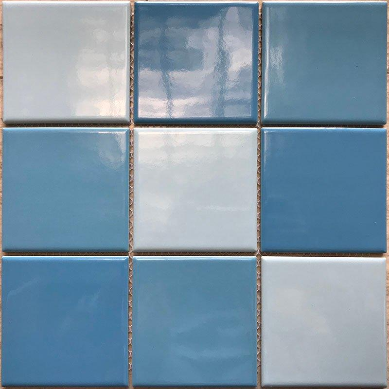 Swimming pool mosaic  hot sale 3-Blue common glazed