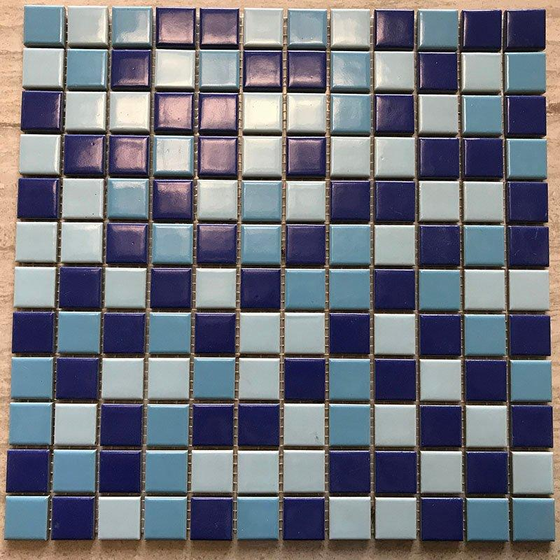 Ceramics mosaix 3-Blue common glazed  230235