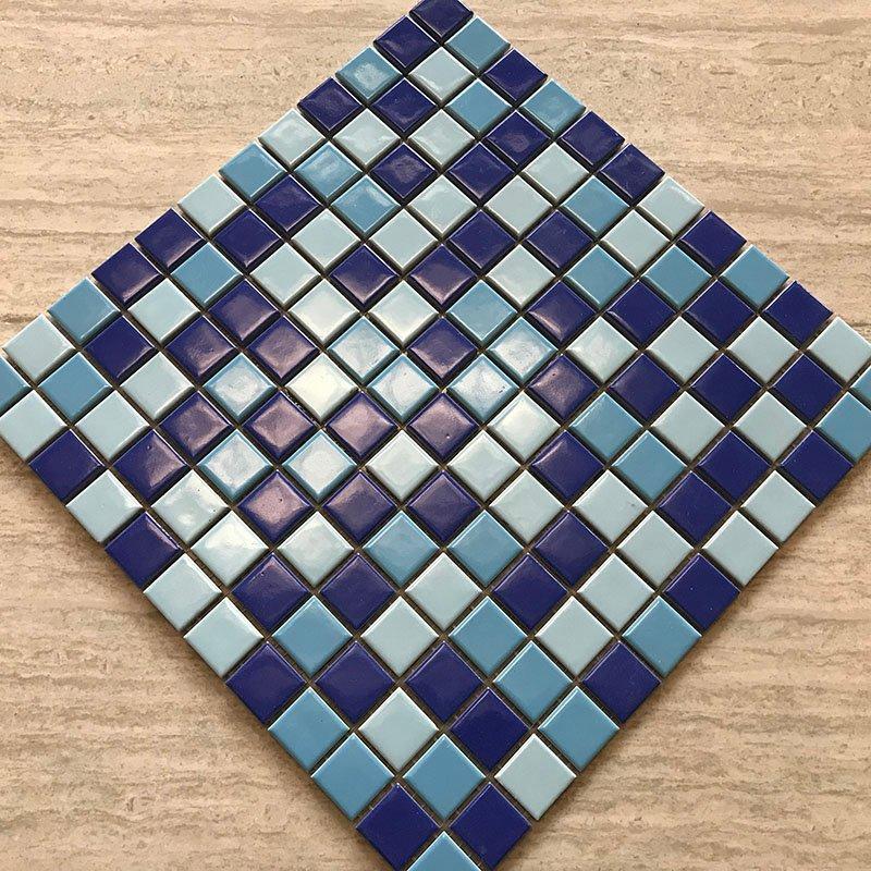 Ceramics mosaix 3-Blue common glazed  230235