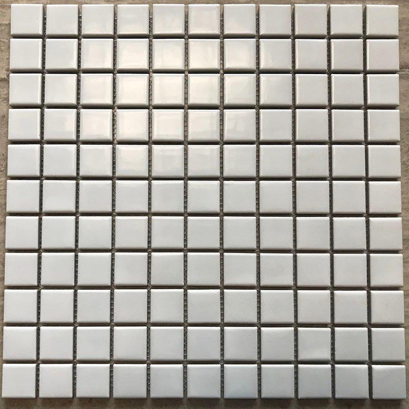 Ceramics mosaix white color glazed mosaic matt   	48/1001
