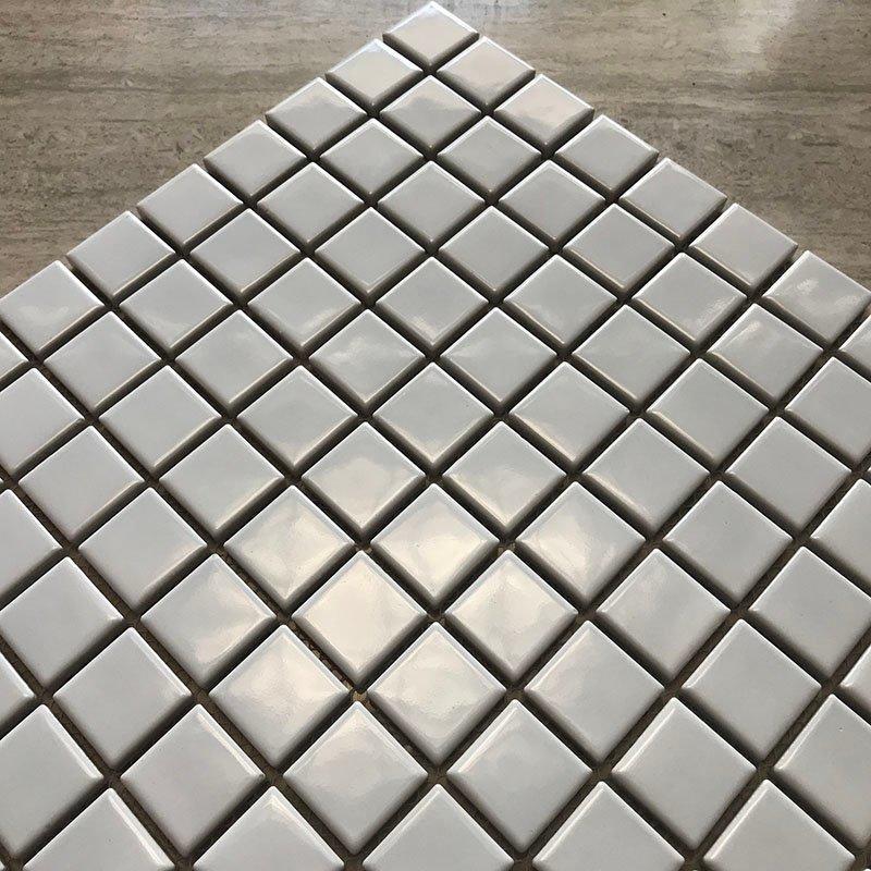 Ceramics mosaix white color glazed mosaic matt   48/1001