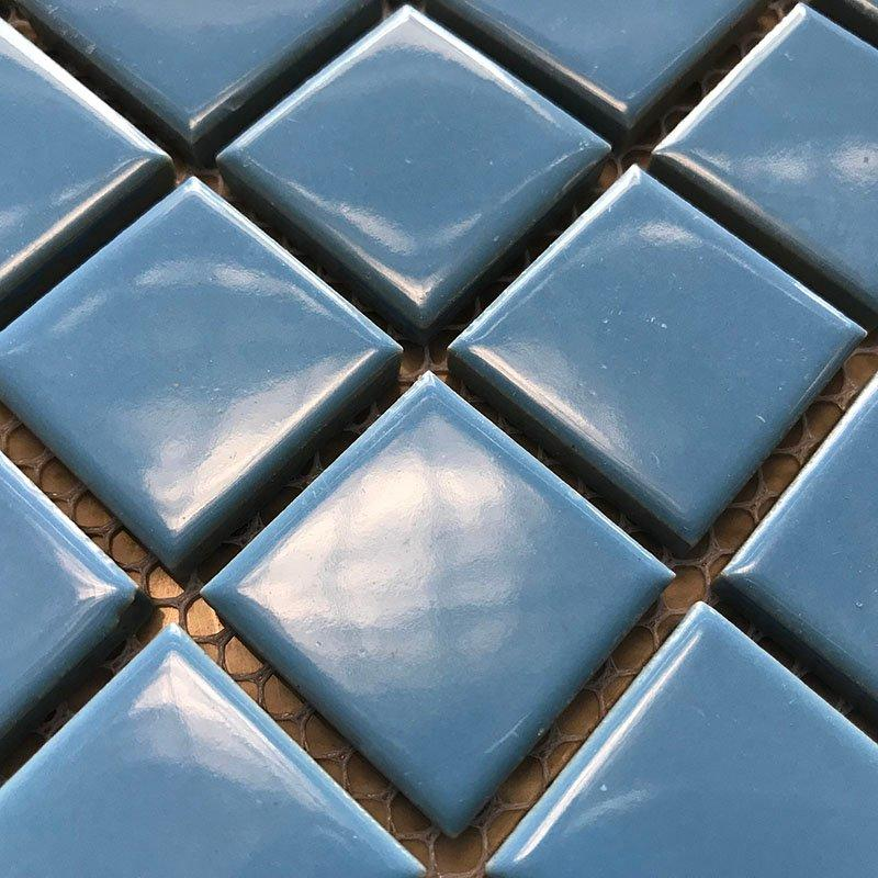 Ceramics mosaix blue color glazed mosaic  K4298B
