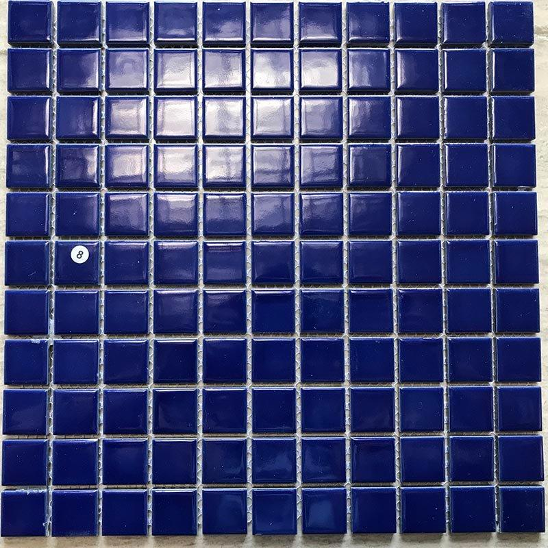 Swimming pool mosaic blue color glaze mosaic  K4381B