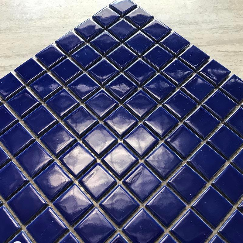 Swimming pool mosaic blue color glaze mosaic  K4381B