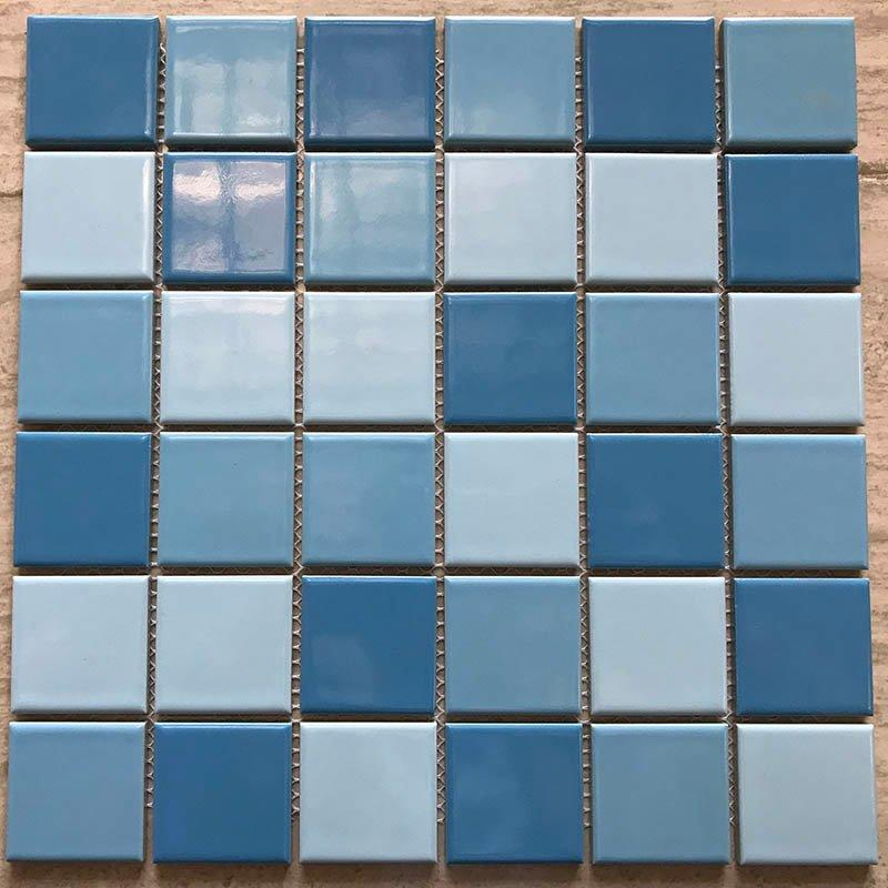 Swimming pool mosaic hot sale 3-Blue common glazed  34455