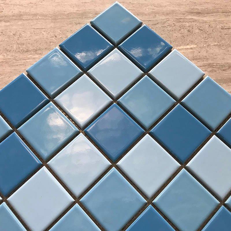 Swimming pool mosaic hot sale 3-Blue common glazed  34455