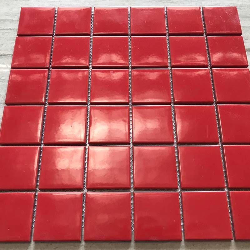 Ceramics mosaix red glaze mosaic 48W123