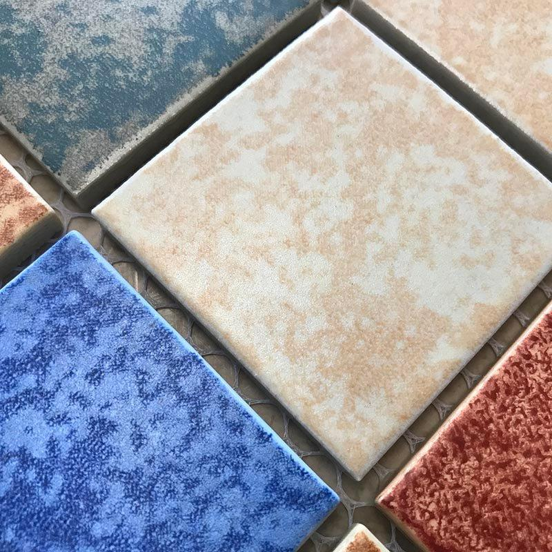 Chinese modern mosaic wall tiles indoor and outdoor swimming pool glass mosaic tiles  YID53481H5B