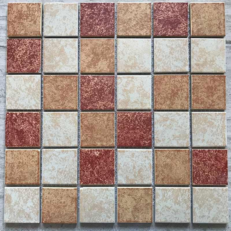Balcony indoor and outdoor pool glass mosaic tile exterior mosaic wall brick  YID5348H3B