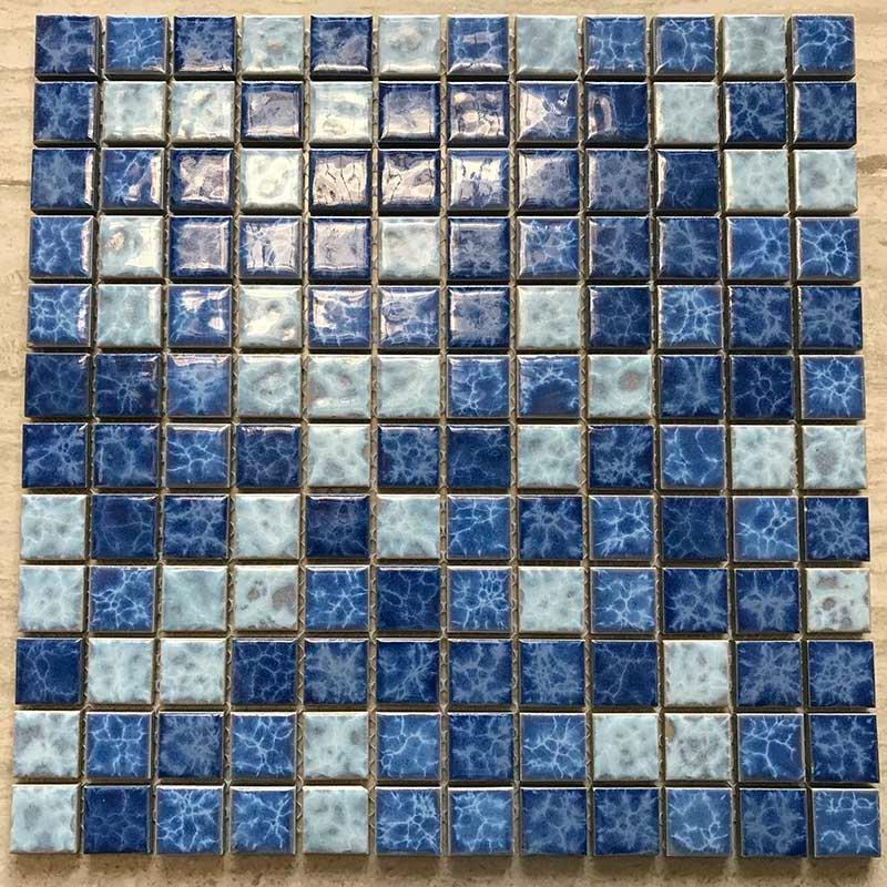 Blue pool mosaic tile bathroom balcony tile mosaic  23W123
