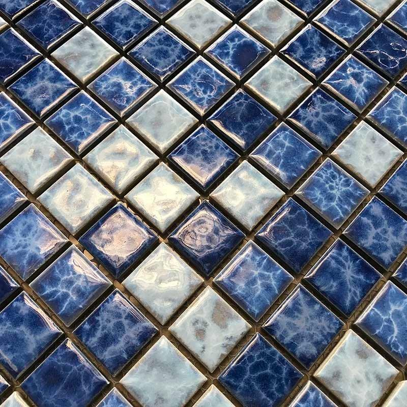 Blue pool mosaic tile bathroom balcony tile mosaic  23W123