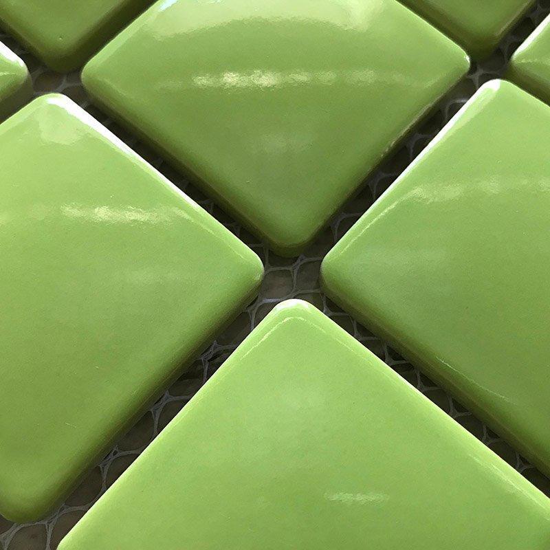 Ceramics mosaix light gree glaze mosaic  453954gmw