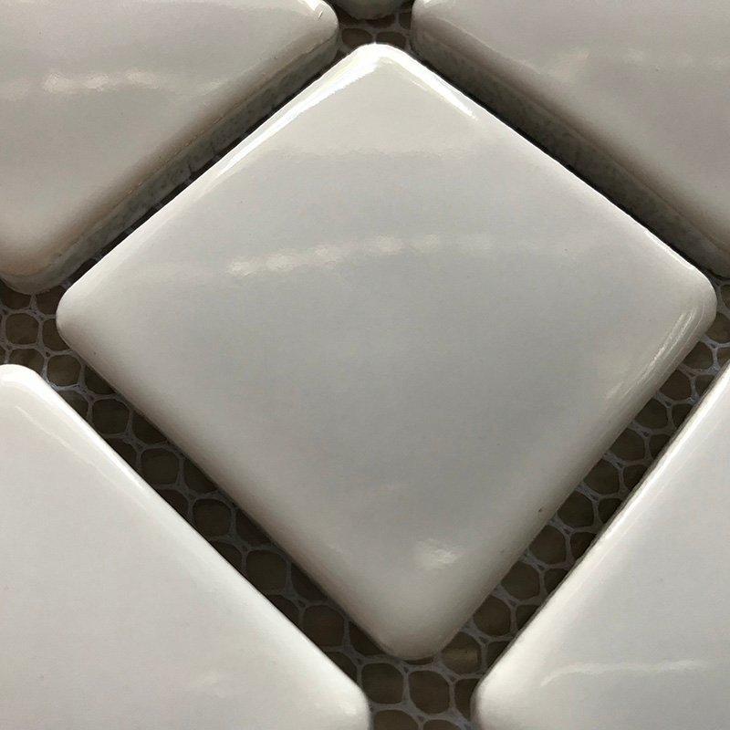 Ceramics mosaix white glaze mosaic  45011