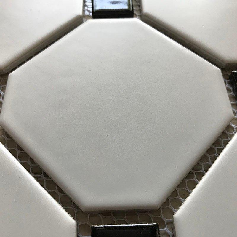 Ceramics mosaix hot sale octangle white glazed mosaic  RJD0513
