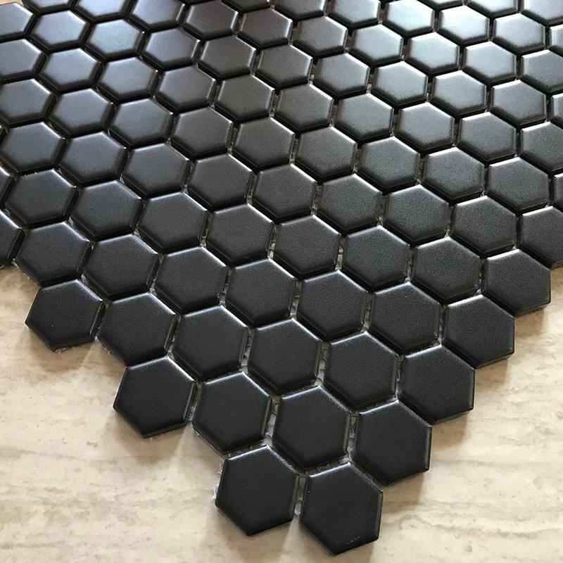 Ceramics mosaix black glazed matt  KL4810