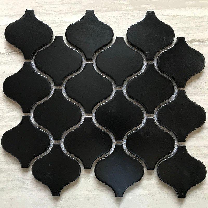 Ceramics mosaix lantern black glazed mosaic matt  IDLJ4810B