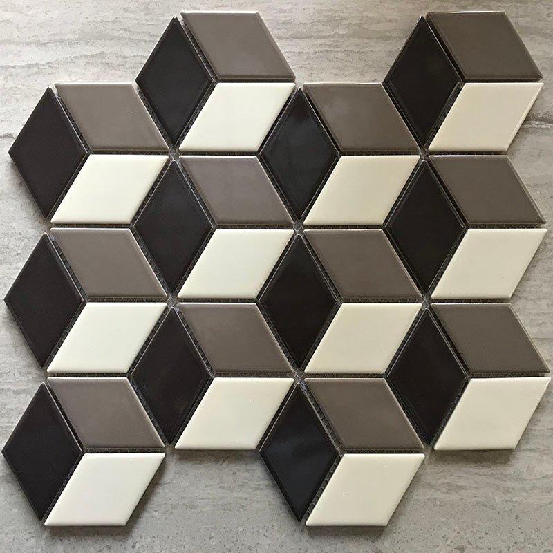 Ceramics mosaix MIX-black white grey  RJLK1096